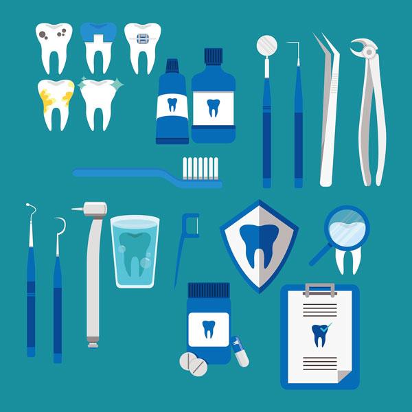 Assortment of Dental Instruments